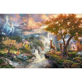 Schmidt Kinkade: Disney Bambi Jigsaw Puzzle (1000 pièces)