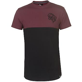 Fabric Mens Embroidered Panel T Shirt Crew Neck T-Shirt Tee Top