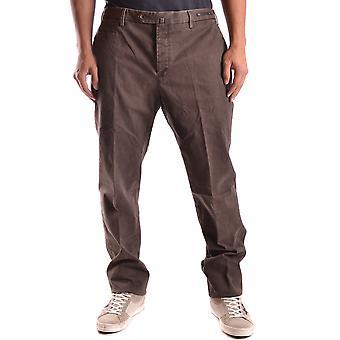 Pt01 Ezbc084016 Men's Brown Cotton Pants
