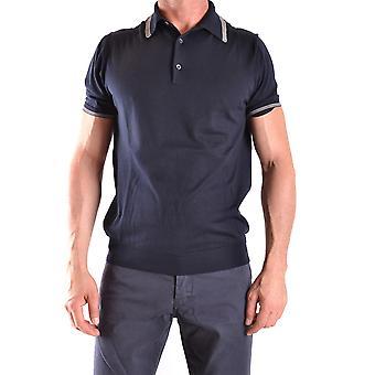 Ballantyne Ezbc099017 Men's Blue Cotton Polo Shirt