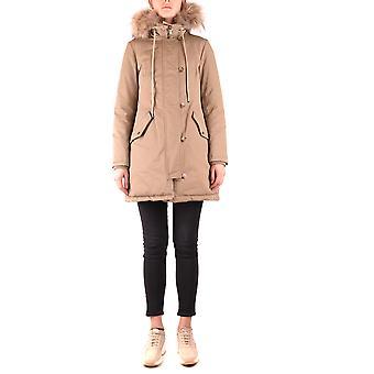 Ezbc193005 Damen's Beige Nylon Outerwear Jacke hinzufügen