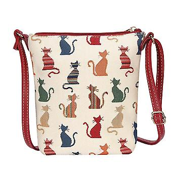 Cheeky cat shoulder sling bag by signare tapestry / sling-cheky
