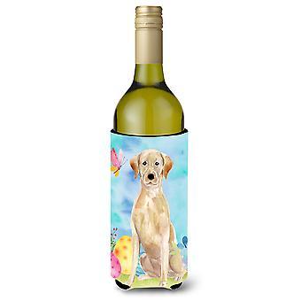 Amarelo Labrador Páscoa garrafa de vinho Beverge isolador hugger