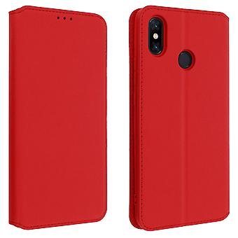 Classic Edition stand case with card slot for Xiaomi Mi Max 3 - Red