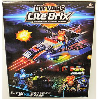 Lite Wars Lite Brix - Slayer Jet Vs. Captain Bolt's Bunker