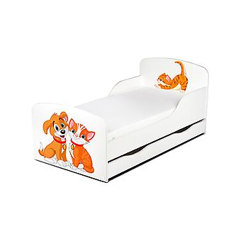 PriceRightHome Cat and Dog Toddler Bed with Underbed Storage