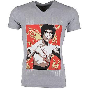 Camiseta - Bruce Lee The Dragon - Grey