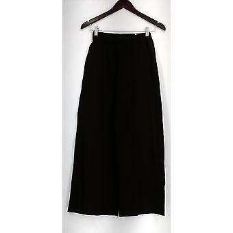 Women with Control Petite Pants XXSP Pull-On w/ Wide Leg Brown A282048