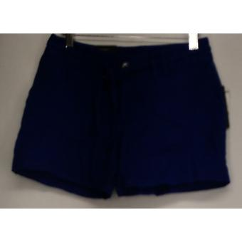 INC Pantaloncini in linea Pantaloncini di lino cintura Dea Stile Blu Donne