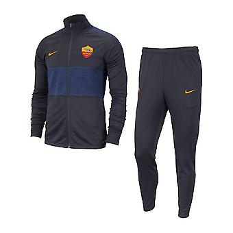 2019-2020 AS Roma Nike Dry Tracksuit (Dark Obsidian) - Kids