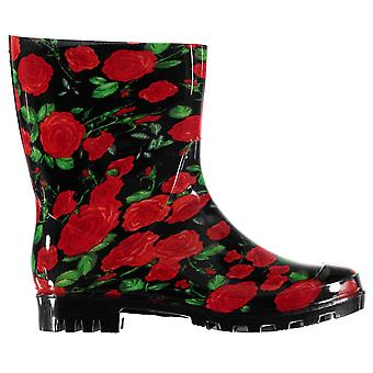 Rock and Rags Womens Flower Wellies Ladies Wellingtons Boots Shoes