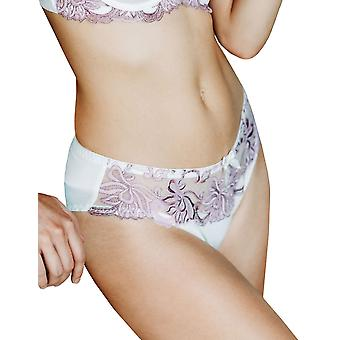 Guy de France 14922-D Women's Ivory Floral Embroidered Knickers Brief