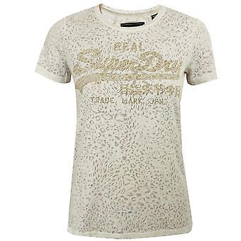 Superdry Burnout kvinnor ' s havregryn märl t-shirt