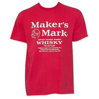 Maker-apos;s Mark Red Whiskey Logo T-Shirt
