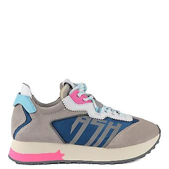 Ash TIGER Trainers Grey Suede & Blue Nylon