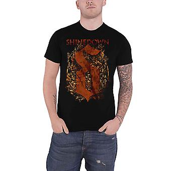 Shinedown T Shirt Overgrown Band Logo new Official Mens Black
