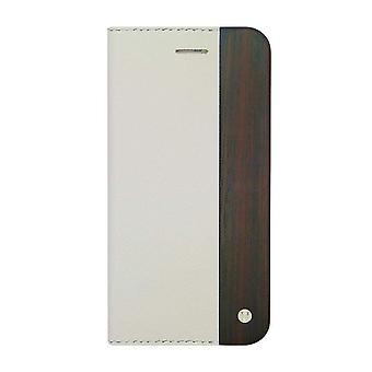 iPhone 6/6s - 4.7 Inch Mode Wooden Saffiano Texture White Folio Hard Shell