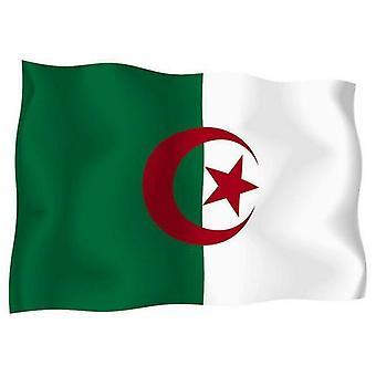 Klistermærke klistermærke mærkat flag udvendig vinyl bil motorcykel Algeriealge riet