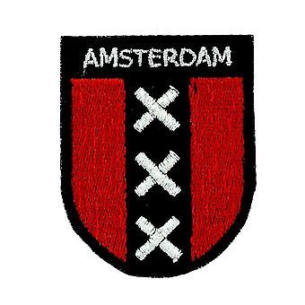 Parche Ecusson Brode Mochila Bandera Blason Amsterdam Thermocollant Souvenir
