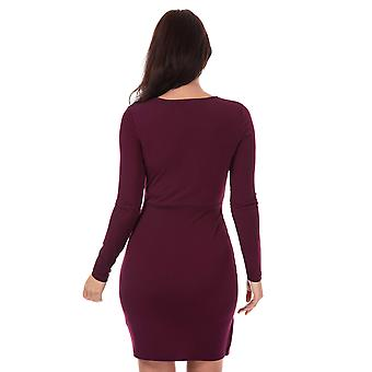 Womens French Connection Long Sleeve Slinky Wrap Dress In Hollyhock