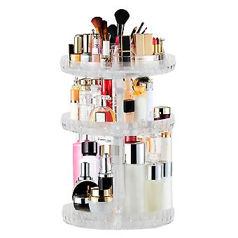 TRIXES Make up Cosmetic Organiser 3 Livello Clear Acrylic Stand Display rotante