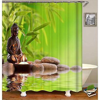 Spa Atmosphere Buddha Shower Curtain
