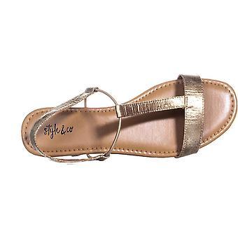Tyyli & Co naisten Kristiee nahka avoin toe rento slingback sandaalit