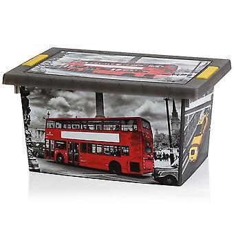 Koopman Small London / New York Style Design Storage Box (approx: 30x20x15cm)