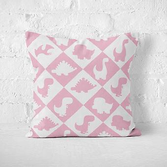 Meesoz Cushion Cover - Dinosaurs Tiles Pink