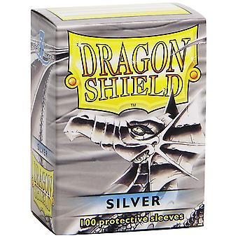 Dragon Shield 100 Deck Protective Sleeves Silver (Pack de 10)