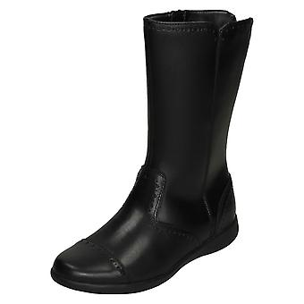 Filles Clarks Smart Leather Boots Etch Stride