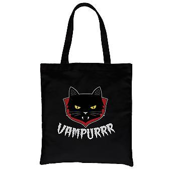 Vampurrr Funny Halloween Costume Cute Graphic Design Black Canvas Shoulder Bag