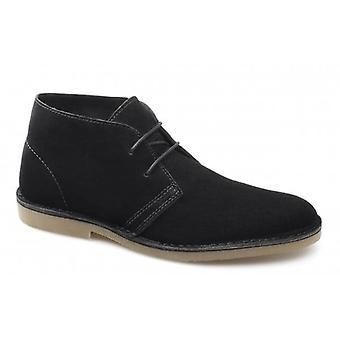 Selected Homme Sel Shleon H Mens Suede Desert Boots Black