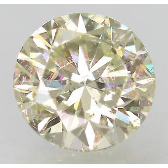 Certified 1.23 Carat J VS2 Round Brilliant Enhanced Natural Diamond 6.84m EX CUT