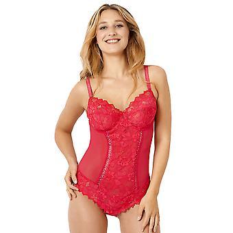 Sans Complexe 20564 Frauen's Arum Passion rosa Floral Spitze unterdrahten Body ein Stück Körper