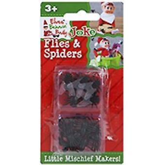 Elves Behavin Badly - Flies And Spiders - Standard Naughty Elf Joke