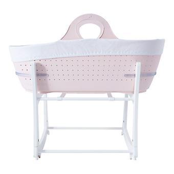 Tommee Tippee Sleepee Basket & Stand - Gentle Pink
