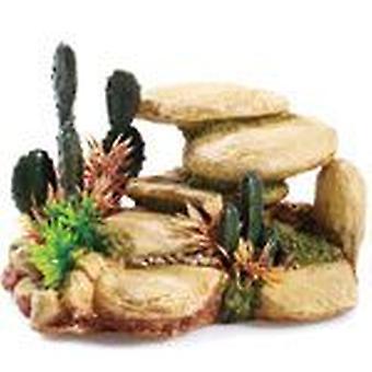 Myytävät Lemmikkieläimet valkoinen kivi/Cactus 165mm (kala, sisustus, kiviä & Caves)