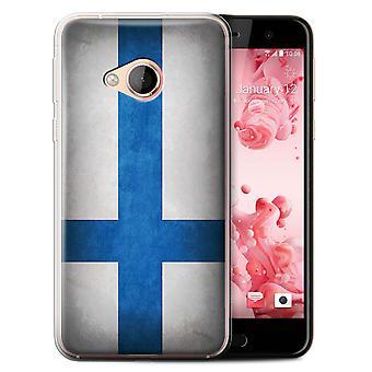 STUFF4 Gel TPU Case/Cover for HTC U Play/Alpine/Finland/Finnish/Flags