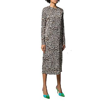 Andamane Beulahlprdbnc Mujeres's Leopard Viscose Dress