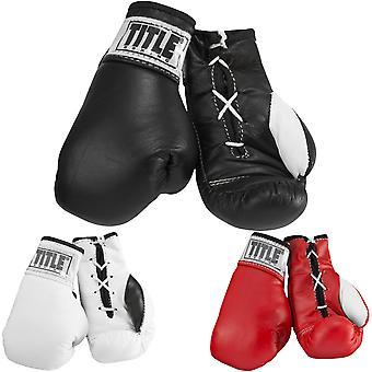 Tittelen boksing 3,5-tommers autentisk detaljert Mini Pro kamp snøre hansker