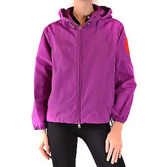 Moncler Ezbc014088 Women's Purple Polyester Outerwear Jacket