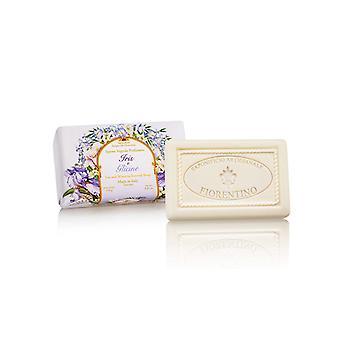 Saponificio Artigianale Fiorentino Handmade Soap - Iris & amp; Blue rain - lovingly wrapped in gift wrapping paper 250 g
