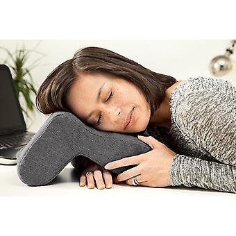 Pewter Nora Nap Anywhere Pillow Head Cushion Desk Sleeping Travel Neck Support