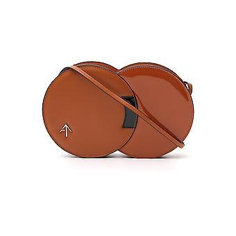 Manu Atelier 2017841 Women's Brown Leather Shoulder Bag