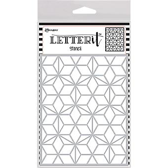 "Ranger Letter It Background Stencil 4.75""X6"" - Puzzled Mosaic"