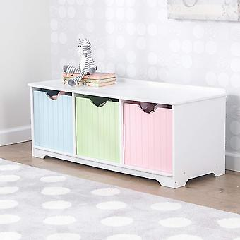 Bench Kidkraft Pastel drawers with Containers