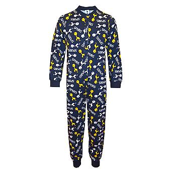 Tottenham Hotspur FC Official Football Gift Boys Kids Pyjama All-In-One