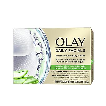 Olay Cleanse Daily Facials Micellar Toallitas Secas Ps 30 Uds voor vrouwen
