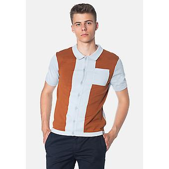 Merc CONDUIT, Colour Block Knitted Men's Polo Shirt
